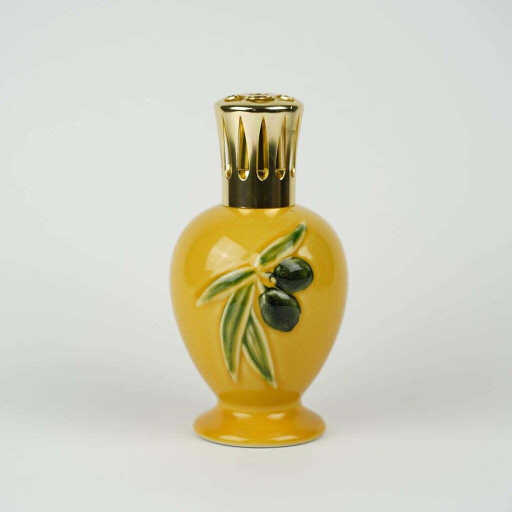 Lampe Berger in ceramica gialla con olive