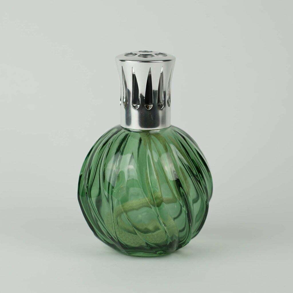 Lampe Berger tonda in vetro verde